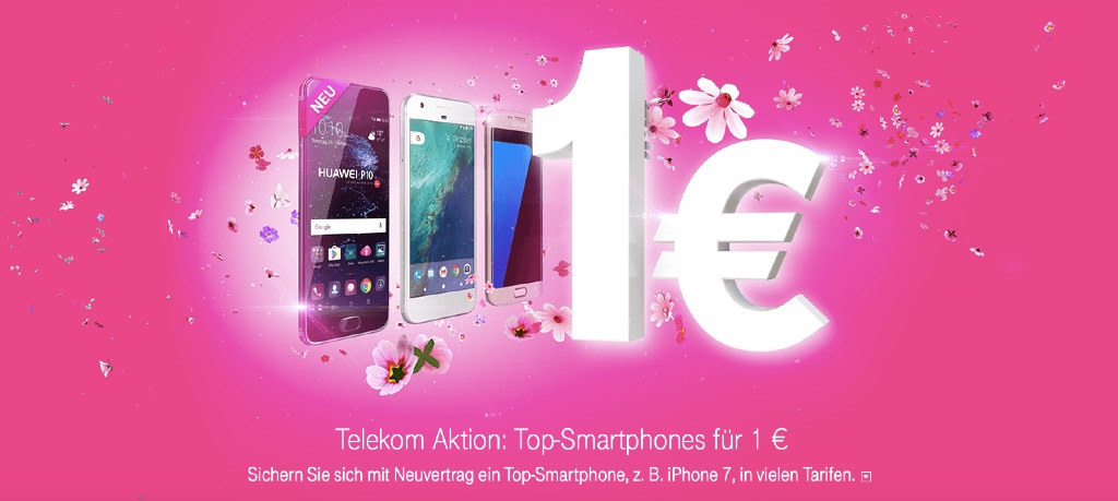 telekom 1 euro aktion iphone 7 huawei p10 samsung. Black Bedroom Furniture Sets. Home Design Ideas