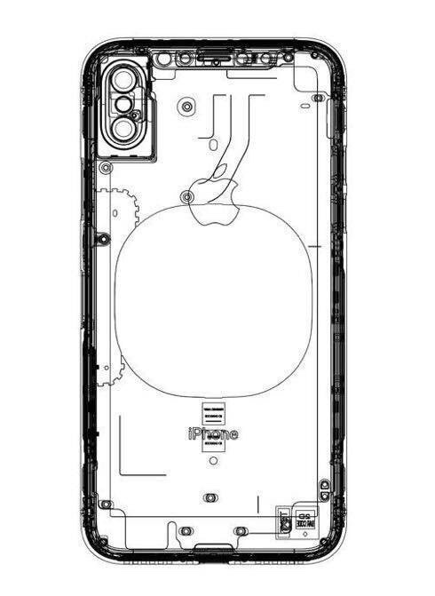 iphone 8  neue schematische zeichnung mit hinweis auf