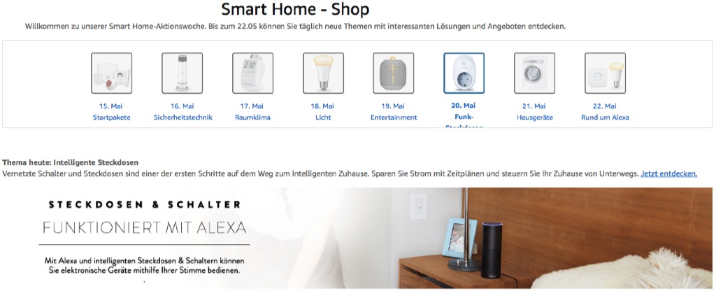 amazon smart home woche rabatt auf intelligente steckdosen u a elgato eve energy avm fritz. Black Bedroom Furniture Sets. Home Design Ideas