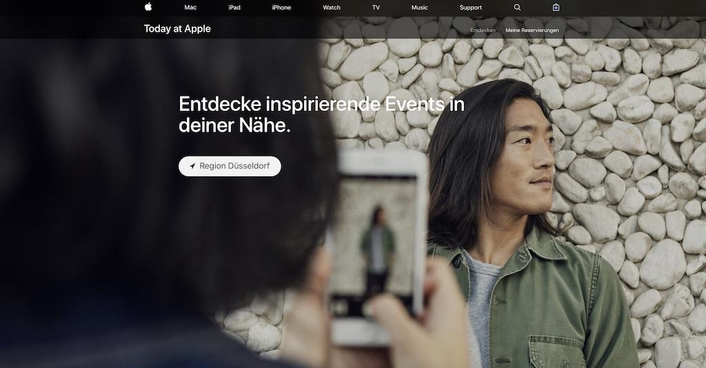 Today at Apple: Store-Veranstaltungen starten