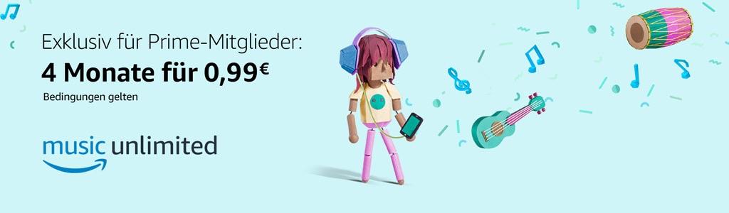 Amazon Music Unlimited: Vier Monate Für Nur 0,99 Euro