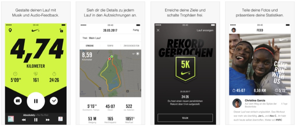nike run club apple watch app mit neuer speed run. Black Bedroom Furniture Sets. Home Design Ideas
