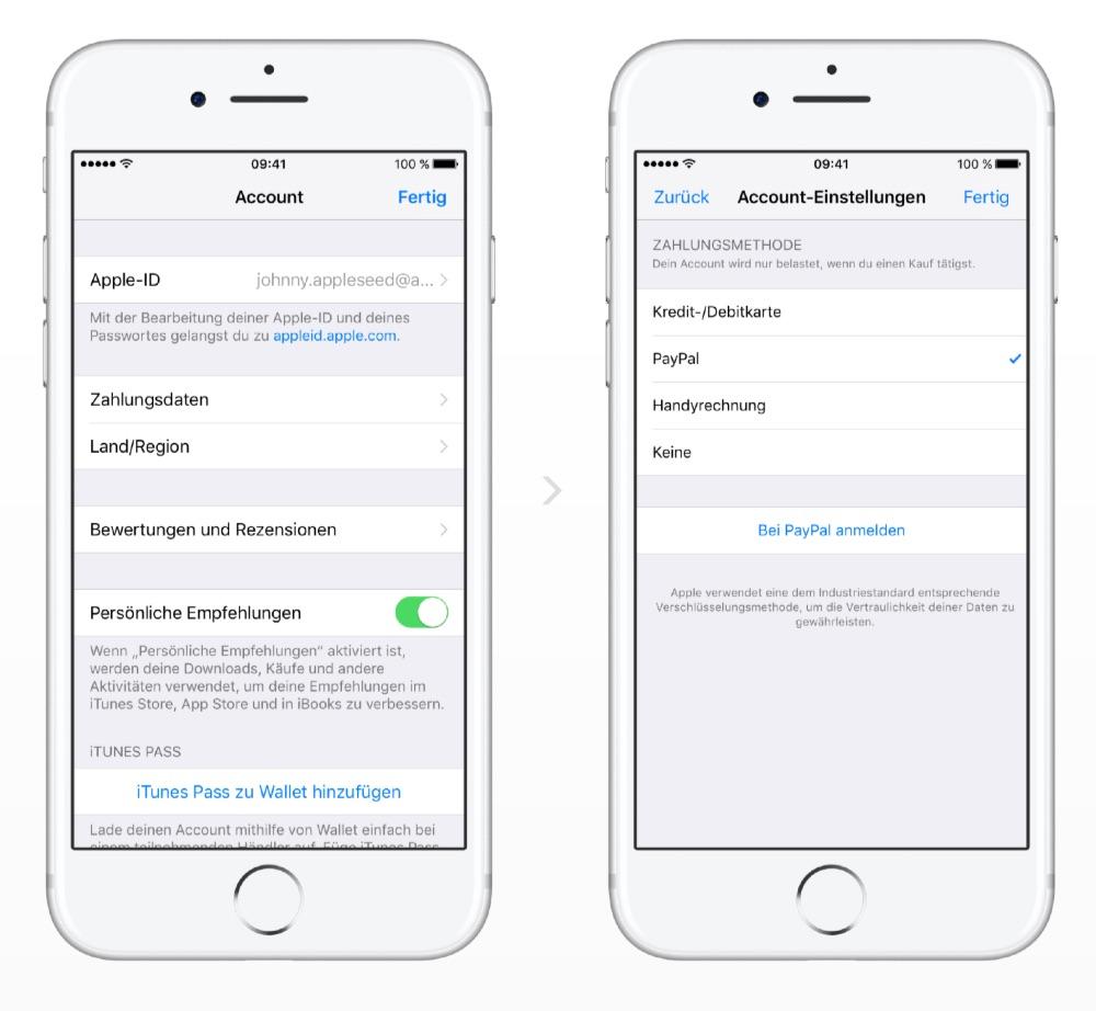 App Store: PayPal als Zahlungsmittel verfügbar
