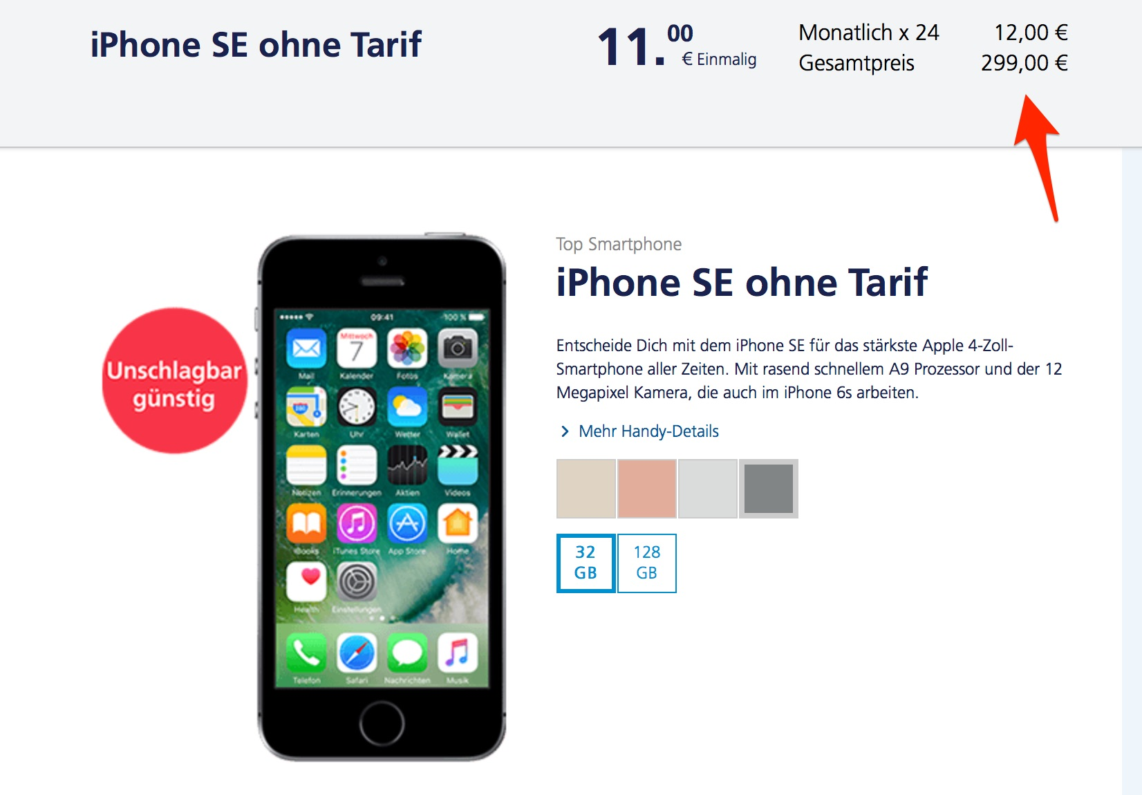 Iphone Se 32gb Bei O2 Nur 299 Euro Macerkopf