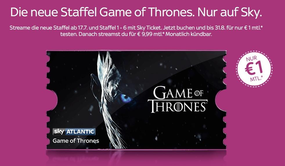 Sky Ticket Entertainment Für Nur 1 Euro Testen Ua Game Of Thrones