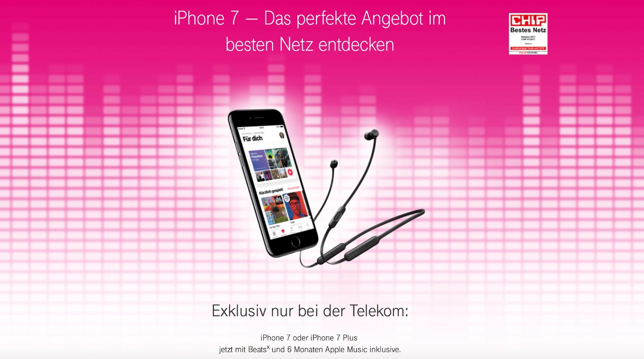 telekom deal iphone 7 plus beatsx 6 monate apple. Black Bedroom Furniture Sets. Home Design Ideas
