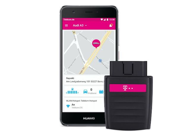 CarConnect: Telekom zeigt Auto-Adapter mit HotSpot-Funktion