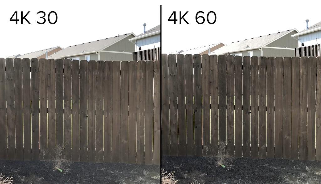 iPhone 8: Vergleich zwischen 4K Videos mit 60fps und 30fps › Macerkopf
