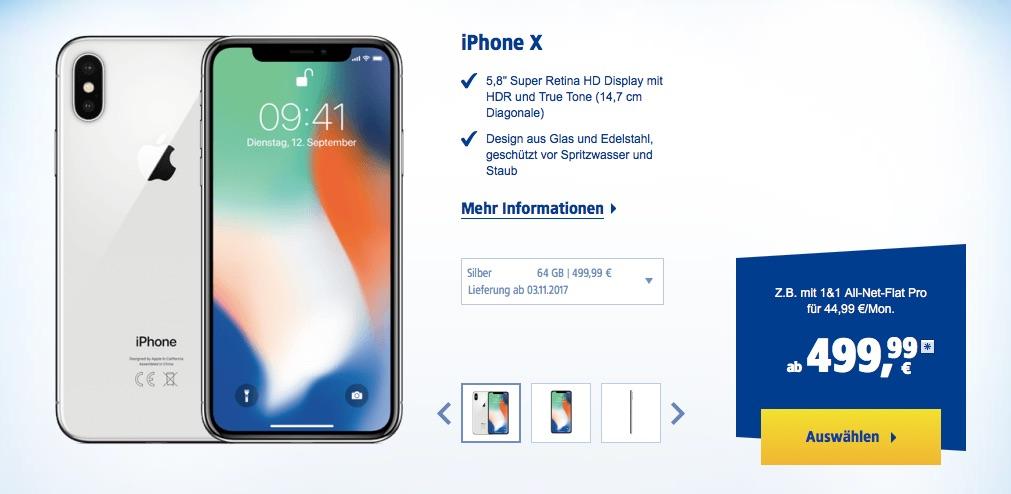 saturn finanzierung iphone x