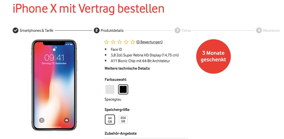 iphone x vodafone red