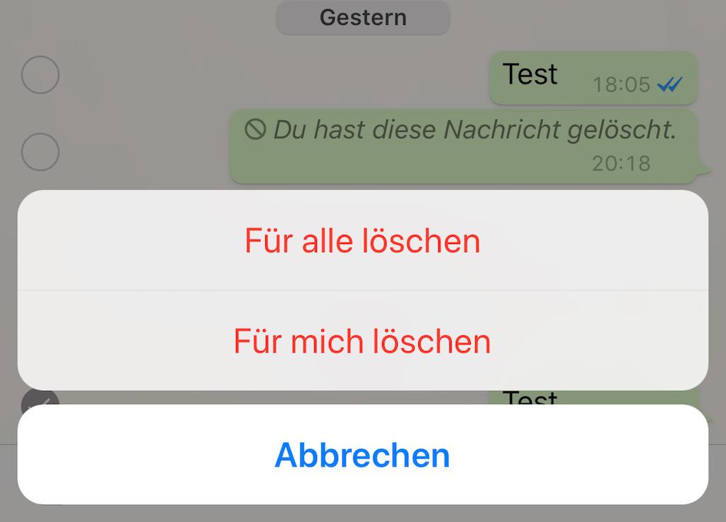 WhatsApp: So könnt ihr bereits verschickte Nachrichten