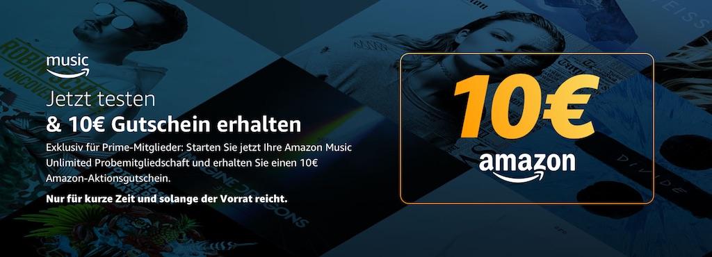 Amazon Music Unlimited Testen Und 10 Euro Gutschein