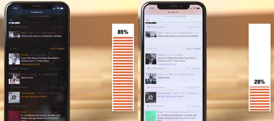 iphone x wie der dark mode die akkulaufzeit verl ngert video macerkopf. Black Bedroom Furniture Sets. Home Design Ideas