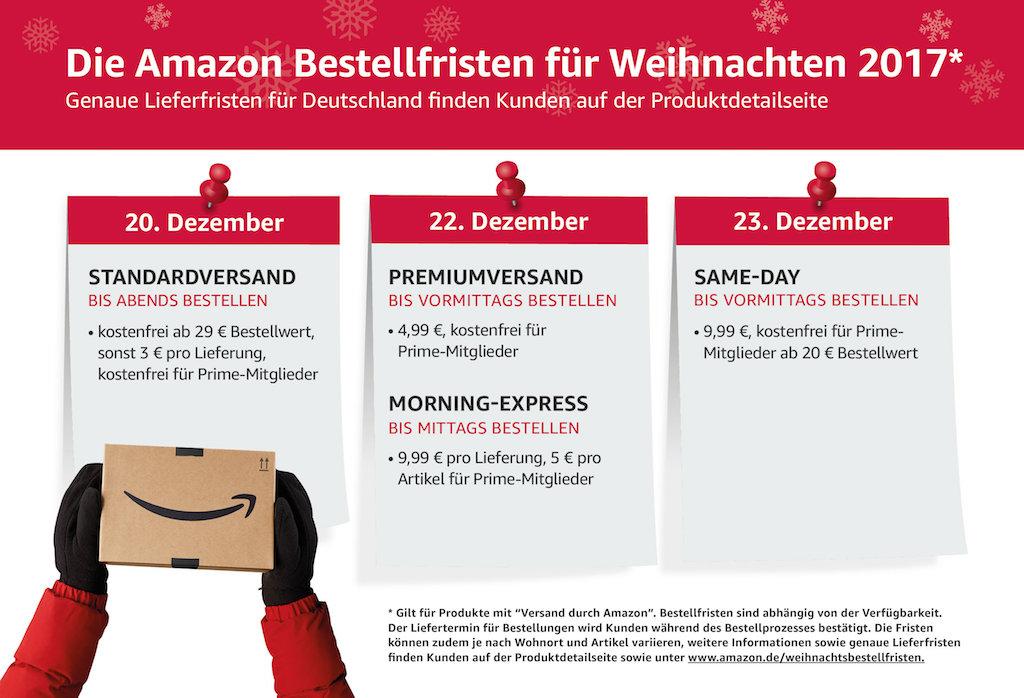 amazon informiert ber bestellfristen zu weihnachten. Black Bedroom Furniture Sets. Home Design Ideas