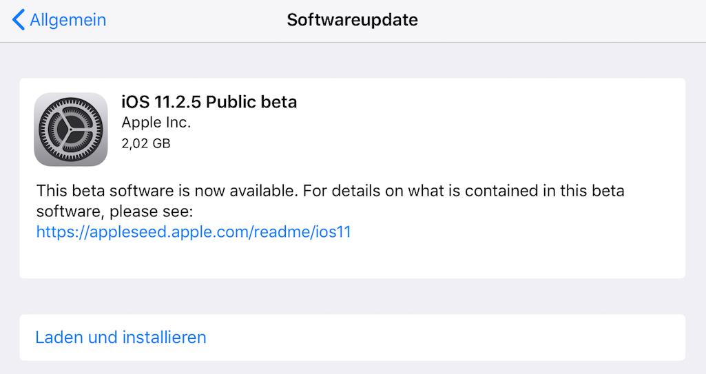 IOS 11.2.1 jetzt verfügbar