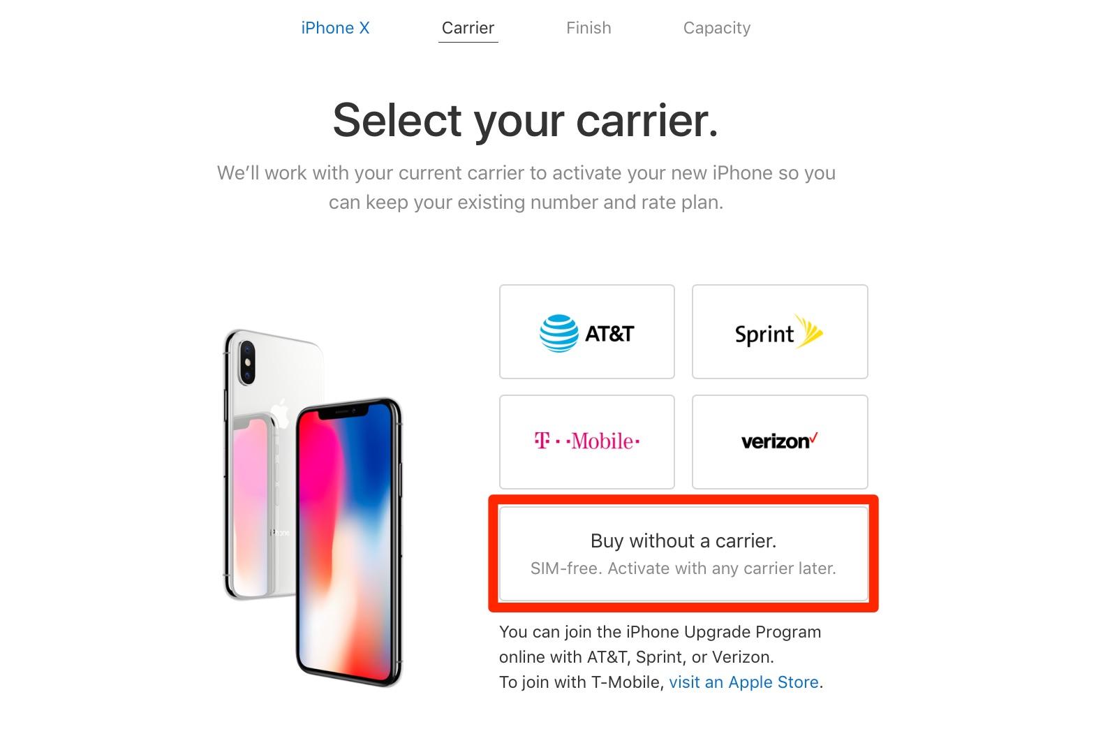 iphone x ohne vertragsbindung ab sofort ber den us apple online store verf gbar kein sim lock. Black Bedroom Furniture Sets. Home Design Ideas