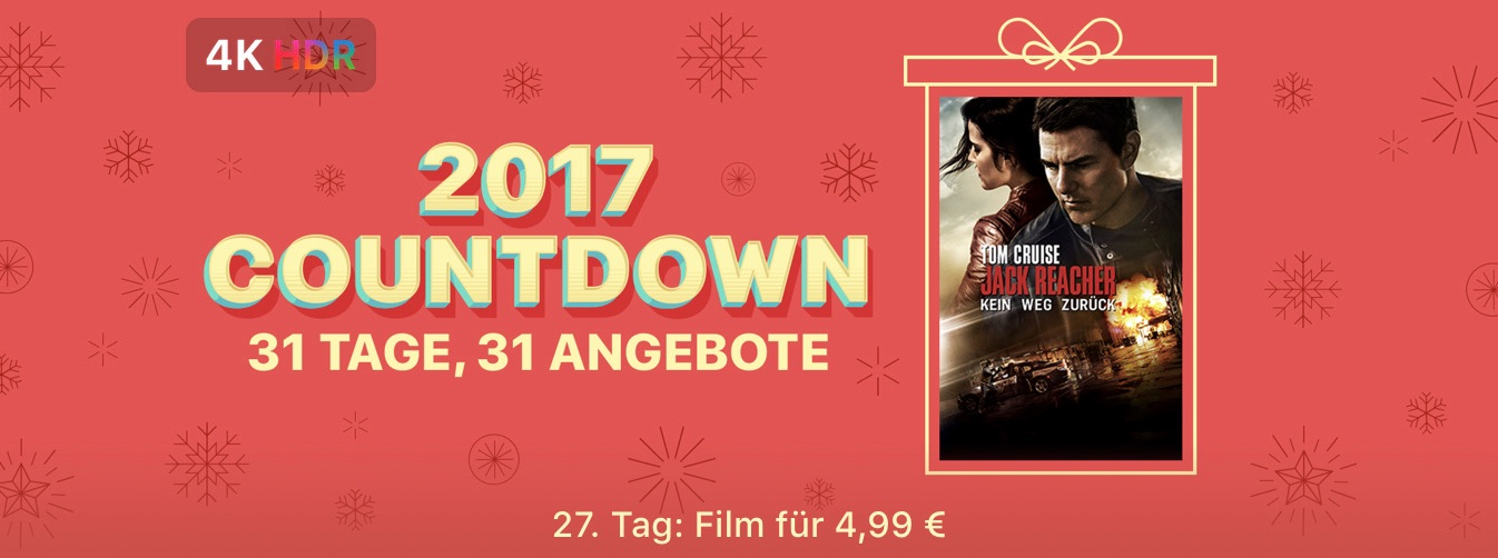 itunes tom cruise in jack reacher kein weg zur ck nur 4 99 euro 4k dolby vision macerkopf. Black Bedroom Furniture Sets. Home Design Ideas