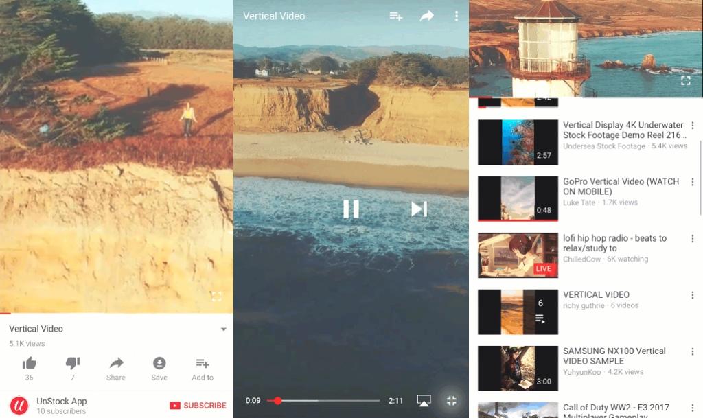 IOS-App passt sich nun dem Video-Format an — YouTube