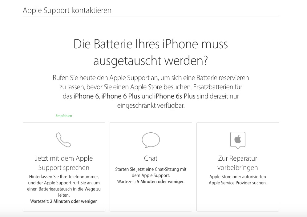 Apple Support Kontaktieren