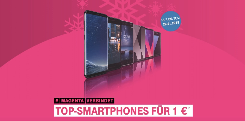 1 euro aktion bei der telekom iphone 7 samsung galaxy s8. Black Bedroom Furniture Sets. Home Design Ideas