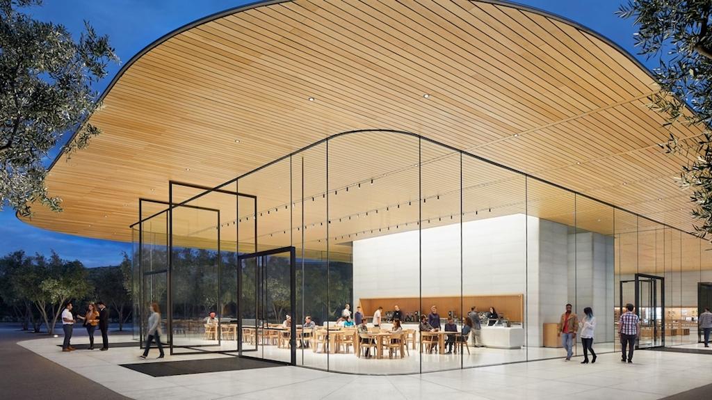 Apple Park Das Besucherzentrum überzeugt Mit Einer Vorbildlichen