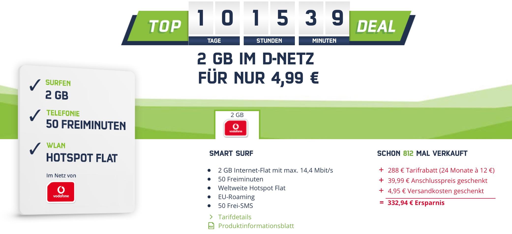 2gb internet flat 50 freiminuten nur 4 99 euro macerkopf. Black Bedroom Furniture Sets. Home Design Ideas