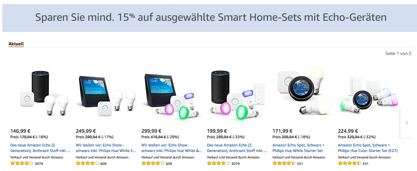amazon startet smart home angebote wochen rabatt auf osram smart philips hue echo devolo. Black Bedroom Furniture Sets. Home Design Ideas