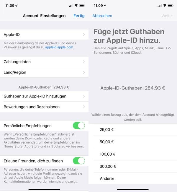 app store guthaben aufladen paypal