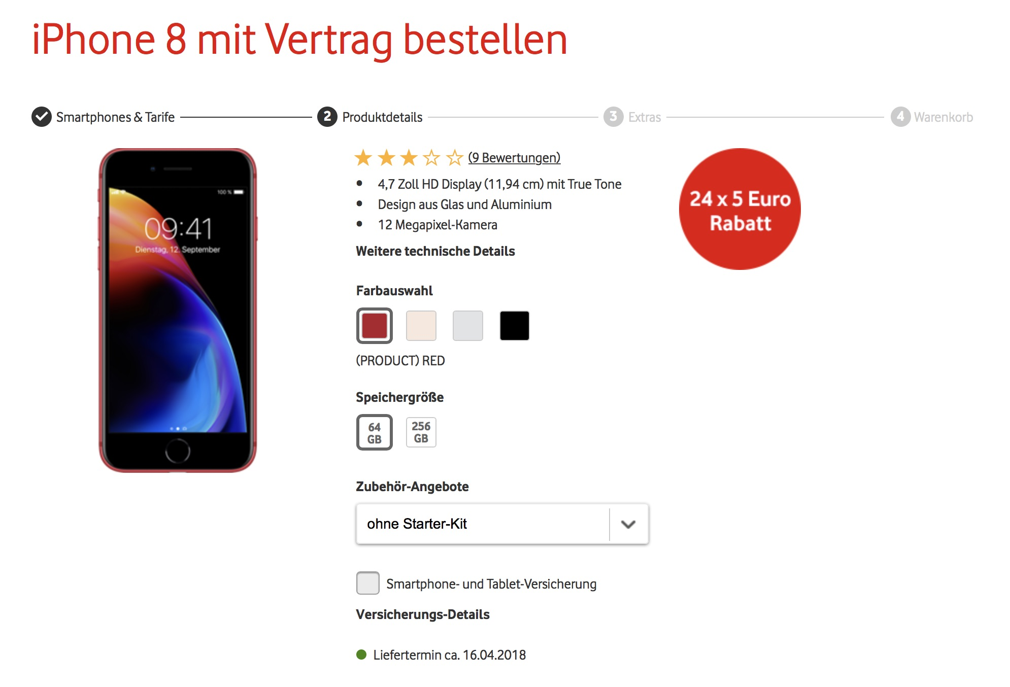 Vodafone Rotes Iphone 8 Jetzt Bestellen 120 Euro Zusätzlichet