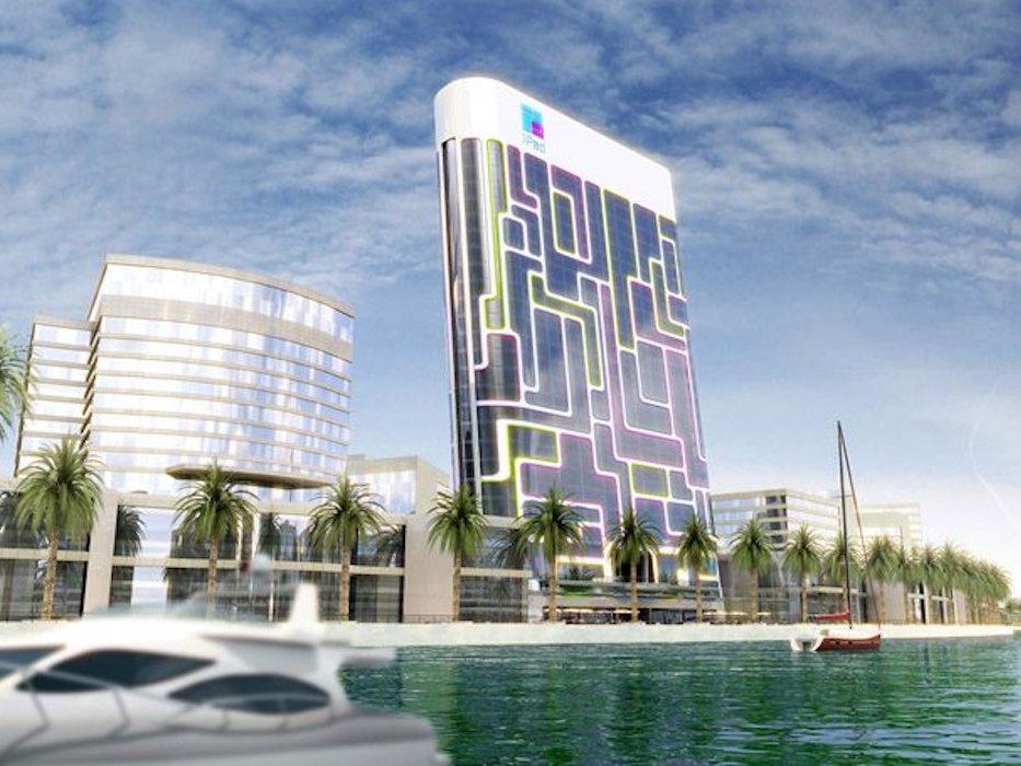 wohnen in einem ipod dubais futuristischer pad tower macerkopf. Black Bedroom Furniture Sets. Home Design Ideas