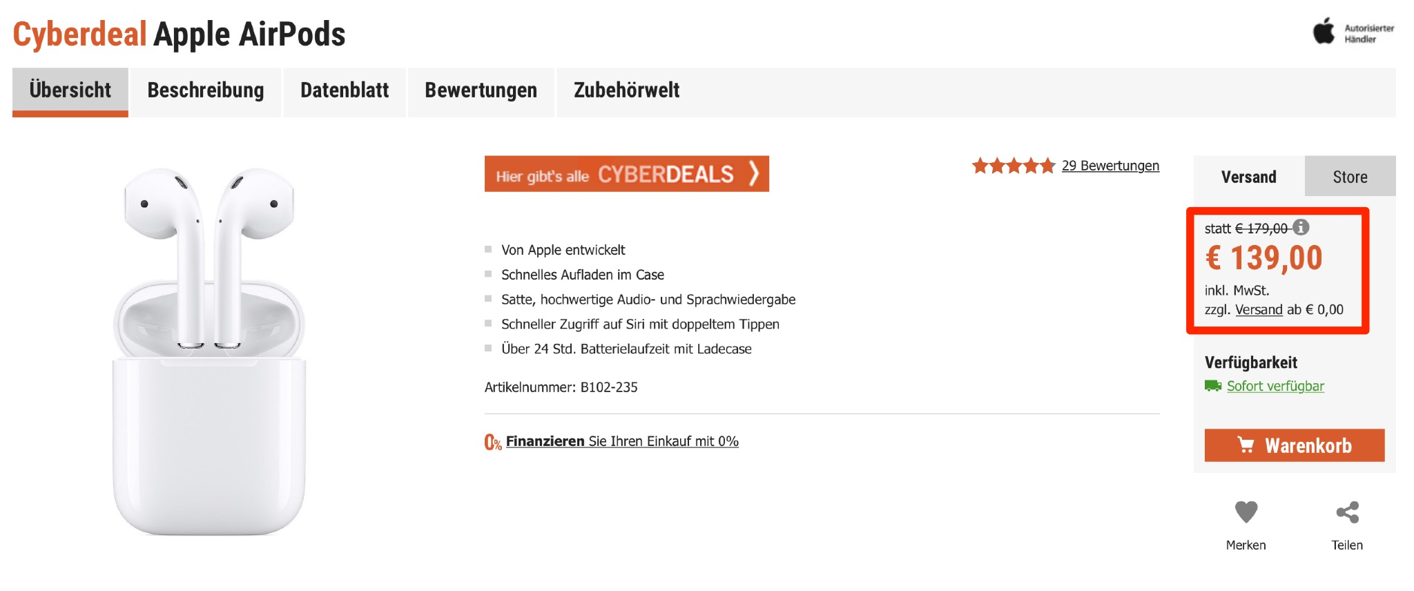 AirPods derzeit nur 139 Euro › Macerkopf
