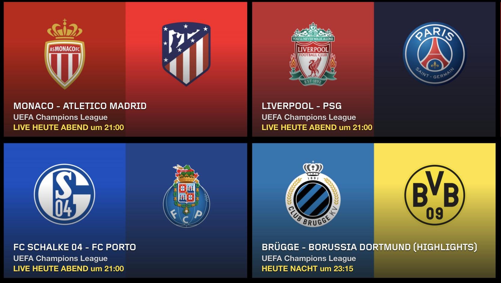 Champions League Live Stream Kostenlos Heute