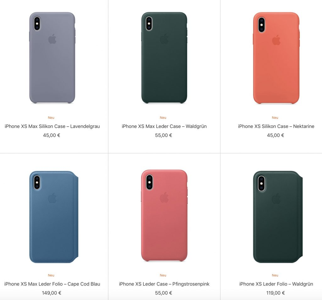 apple pr sentiert neue cases f r iphone xs und xs max. Black Bedroom Furniture Sets. Home Design Ideas