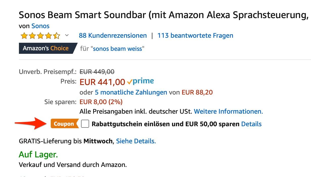 Soundbalken anhaken