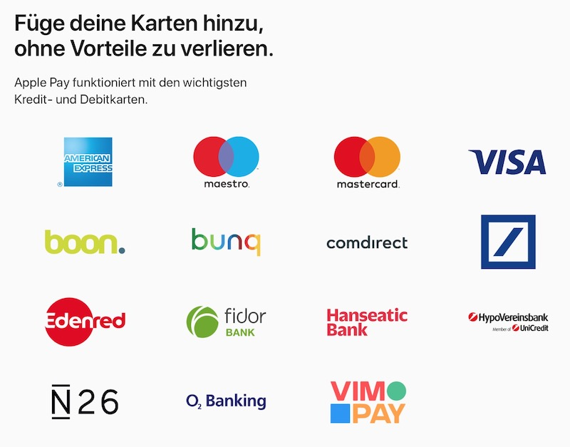 Apple Pay in Deutschland: Start in Kürze – Apple nennt Banken und weitere Partner [Offiziell]