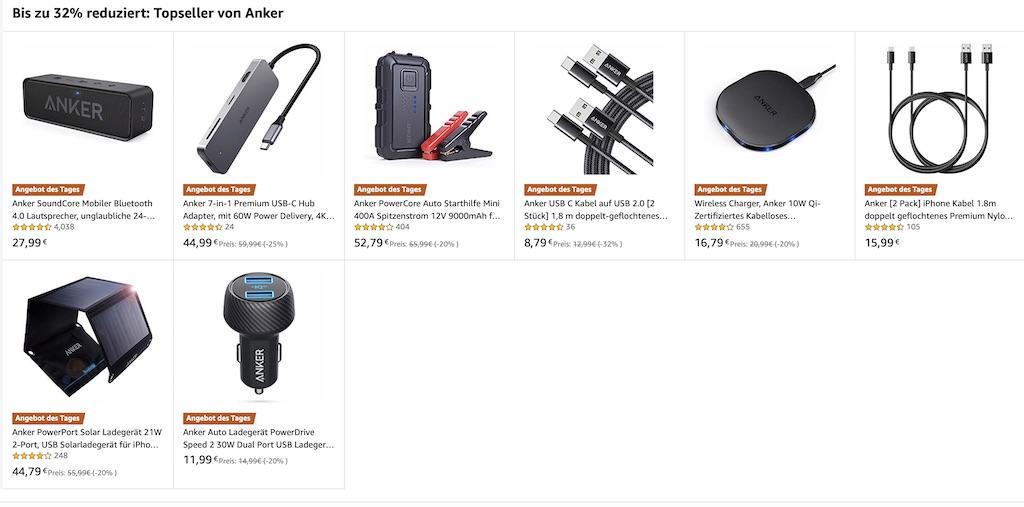 Anker-Deals: bis zu 32 Prozent Rabatt auf Lautsprecher, Lightning-Kabel, Qi