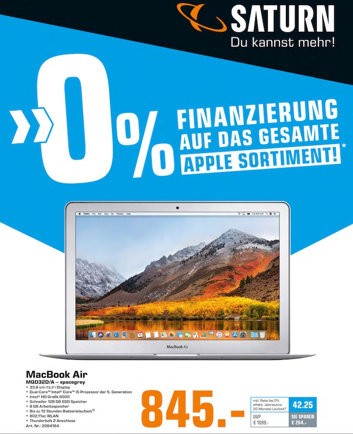 RABATT APPLE MACBOOK AIR