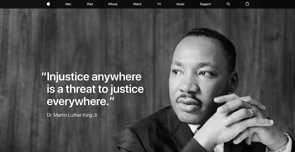 Apple Und Tim Cook Gedenken Dr Martin Luther King Jr Macerkopf