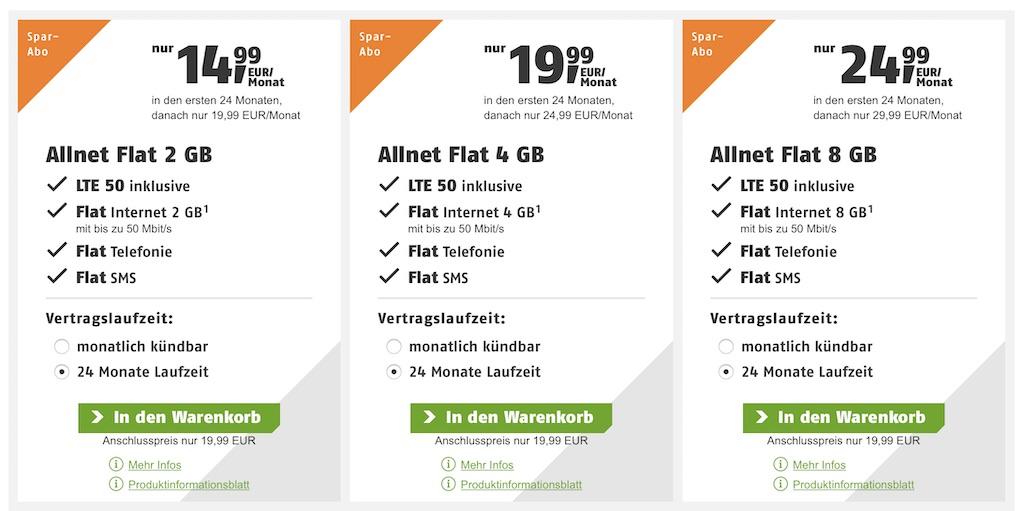 Klarmobil Lte50 Ab Sofort Kostenlos Bei Den Allnet Flats Inklusive