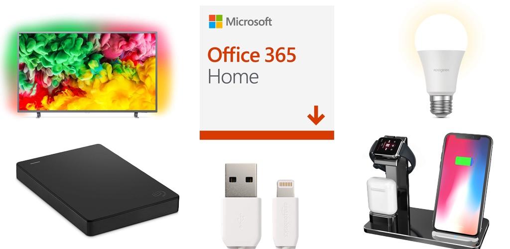 Amazon Blitzangebote: Rabatt auf Microsoft Office 365, HomeKit-LED, 4K UHD TVs, PlayStation Plus, Lightning-Kabel, USB