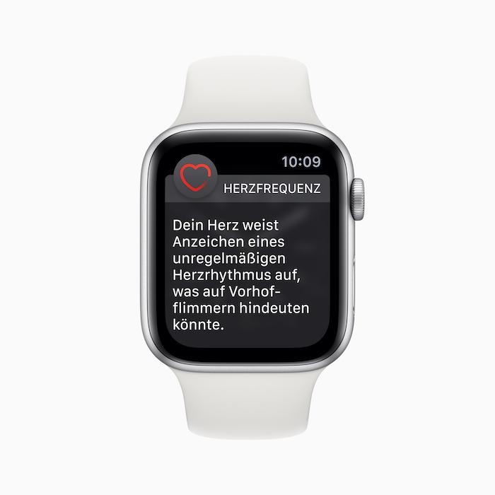 Apple Watch erkennt rechtzeitig gefährliche Herzerkrankung