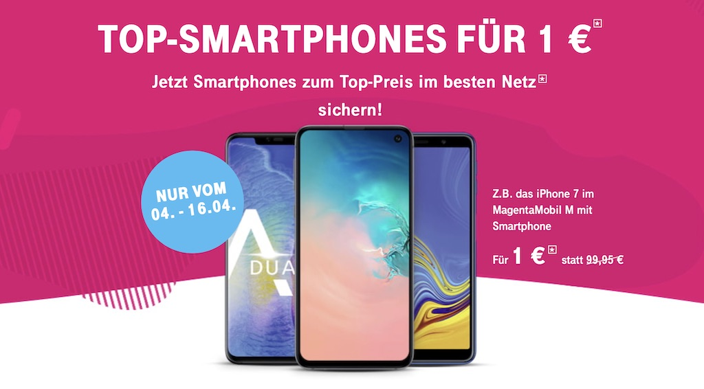 telekom startet 1 euro aktion iphone x iphone 7 iphone. Black Bedroom Furniture Sets. Home Design Ideas