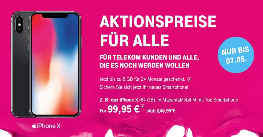 Telekom Oster-Aktion: 250 Euro Rabatt auf iPhone X