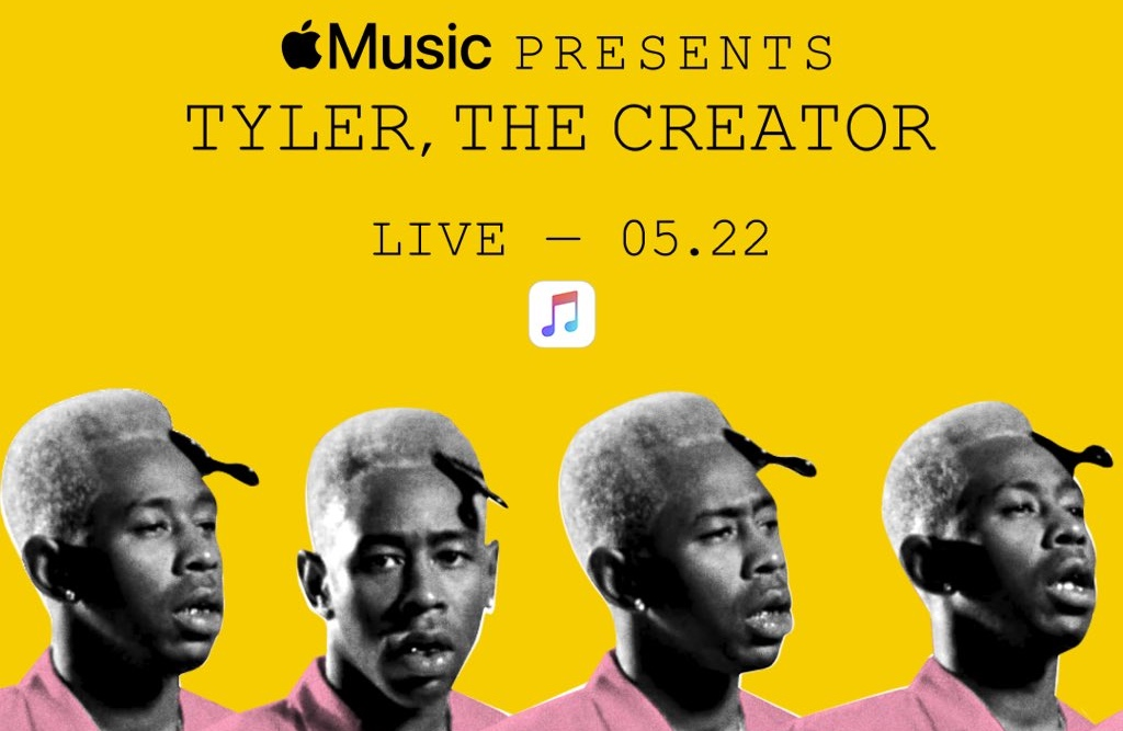 "Apple Music präsentiert kostenloses Konzert von ""Tyler, The Creator"" (Live-Stream am 22. Mai) › Macerkopf"