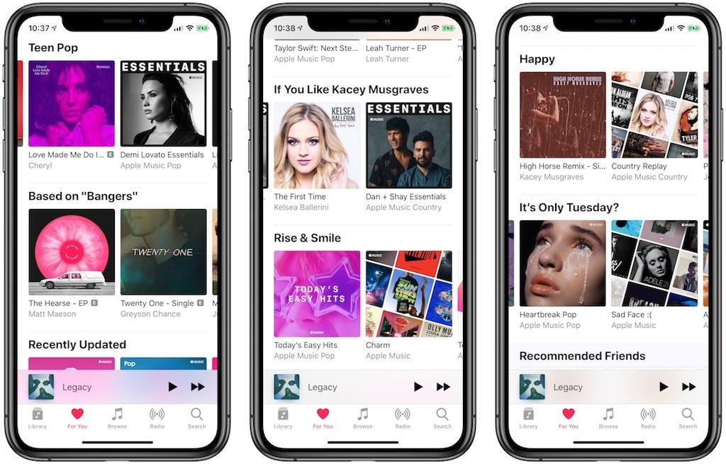 """Apple Music: """"Für Dich""""-Bereich erhält neues Layout › Macerkopf"""