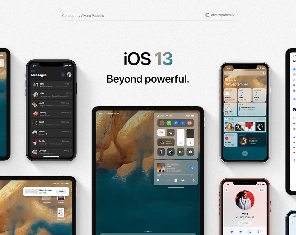 iOS 13 Konzept zeigt Dark Mode, eine neue Lautstärkeanzeige und macht das iPad produktiver › Macerkopf