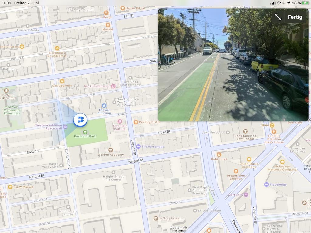 "Im Video-Vergleich: Apple Maps ""Look Around"" vs. Google Maps ""Street View"" › Macerkopf"