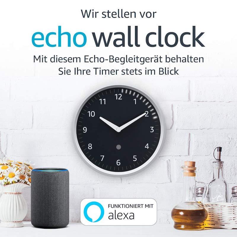 amazon echo wall clock kann ab sofort bestellt werden. Black Bedroom Furniture Sets. Home Design Ideas