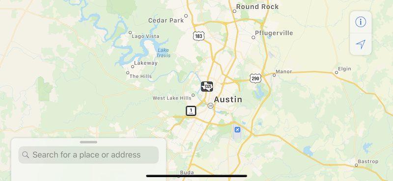 Apple Maps: großes Update für Texas, Louisiana und Südmississippi