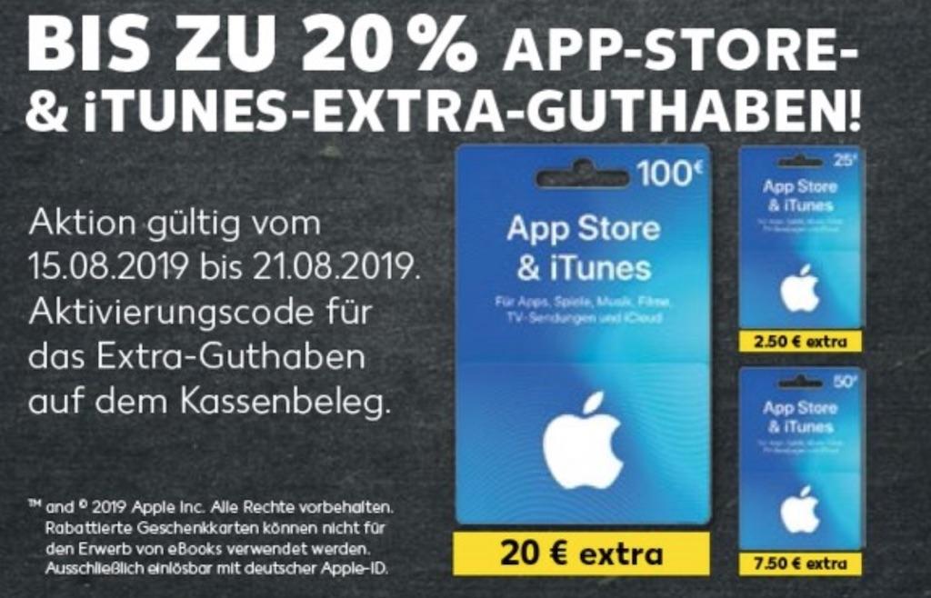 Kaufland: bis zu 20 Prozent Bonus beim Kauf von iTunes Karten › Macerkopf